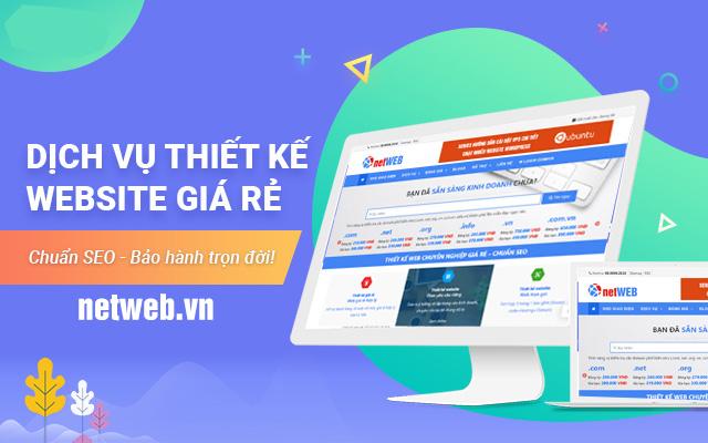 Thiết kế website giá rẻ chuẩn seo – Bảo hành trọn đời