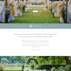 Mẫu web đám cưới