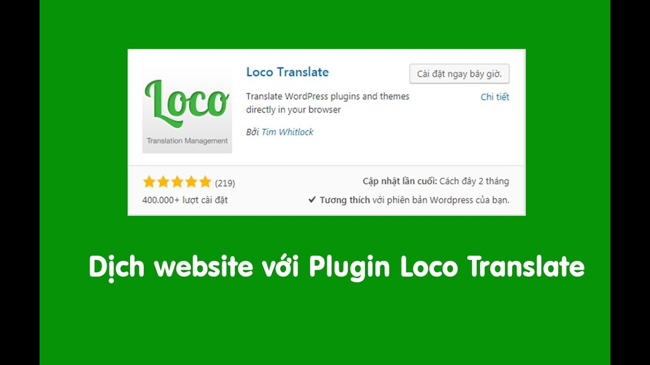Hướng dẫn Việt hóa theme WordPress với Loco Translate thành công 100%