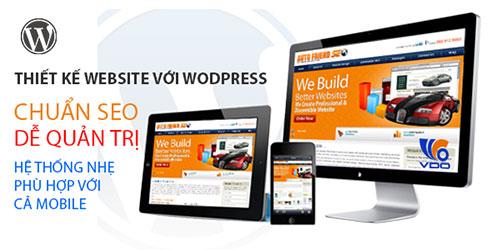 Thiết kế website wordpress giá rẻ chuẩn seo