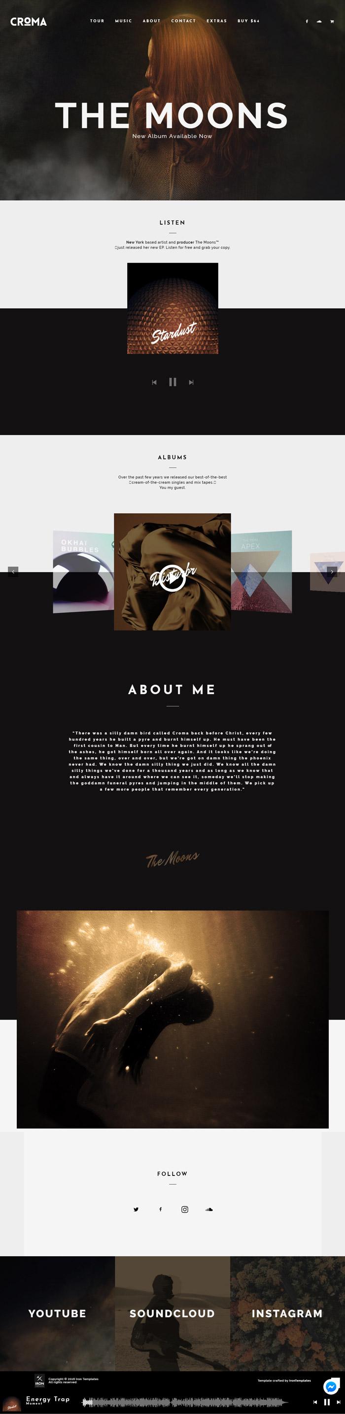 Mẫu web âm nhạc: AN-002