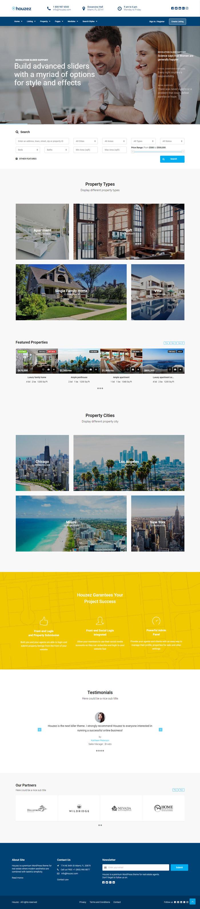 Mẫu web bất động sản: BDS-002