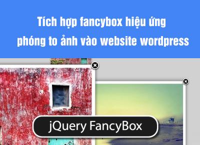 Tích hợp fancybox hiệu ứng phóng to ảnh vào website wordpress