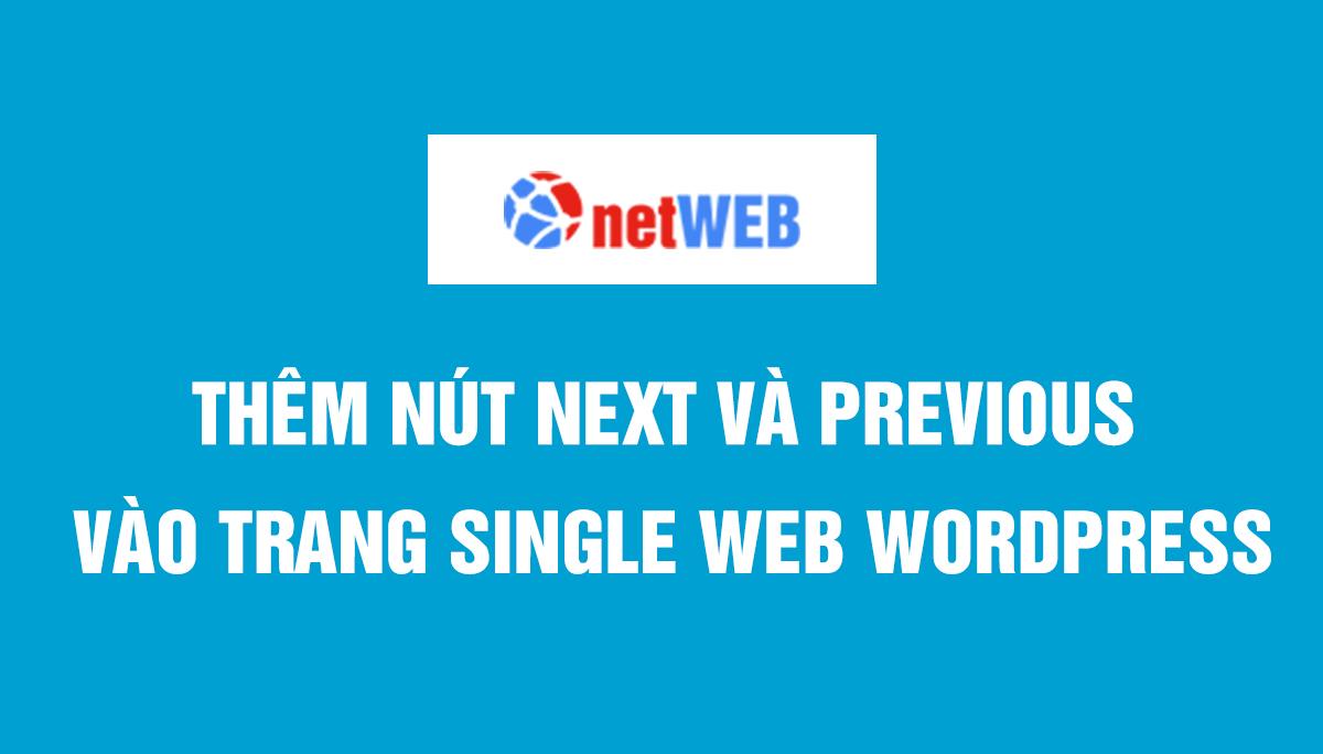 Thêm nút next và previous vào trang single web WordPress