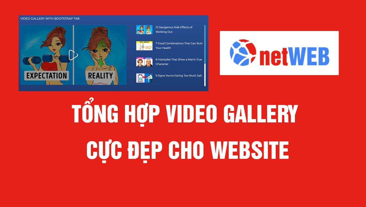 Tổng hợp Video Gallery cực đẹp cho website
