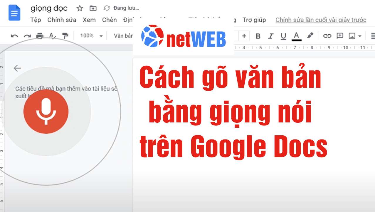 Cách gõ văn bản bằng giọng nói trên Google Docs